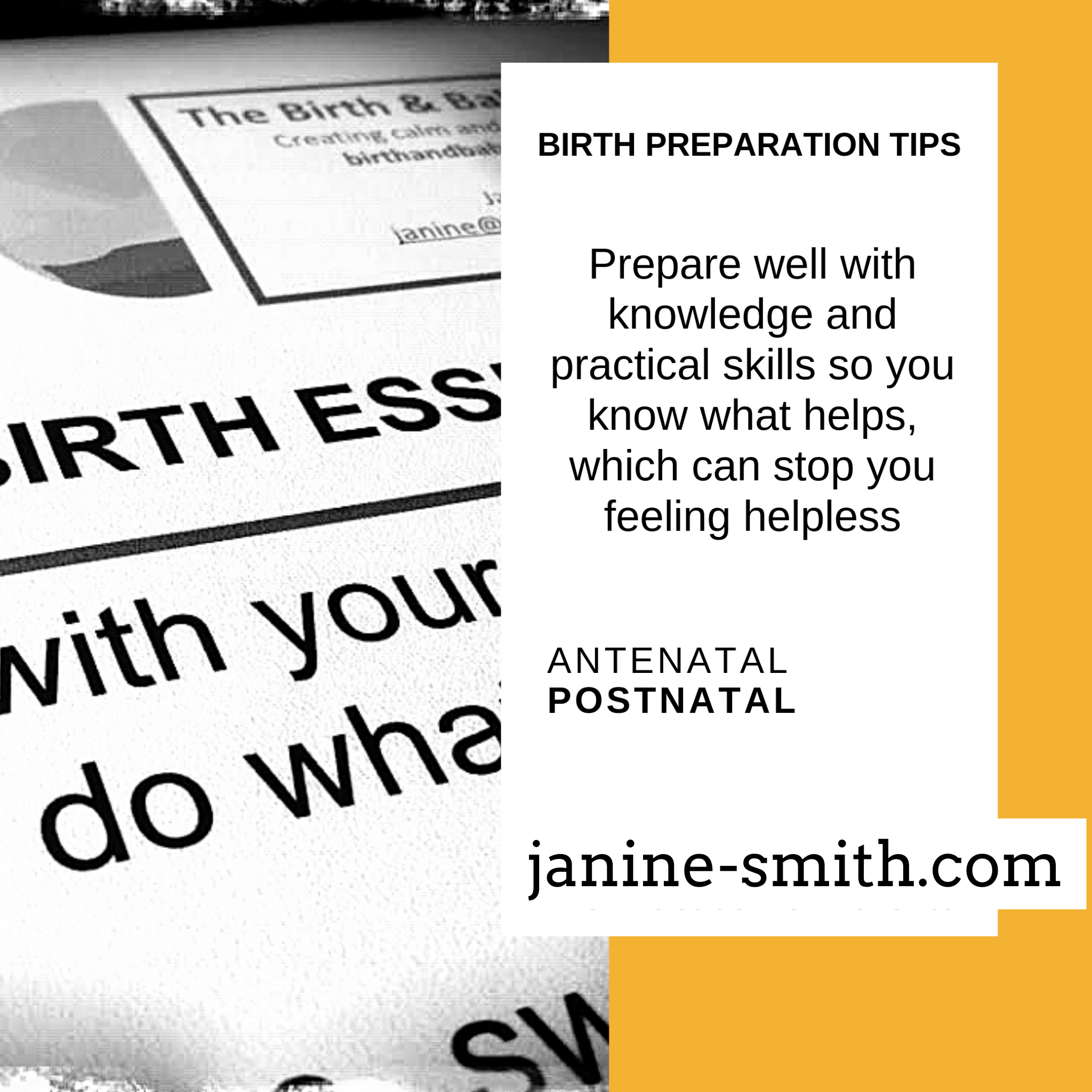 prepare well for labour and birth